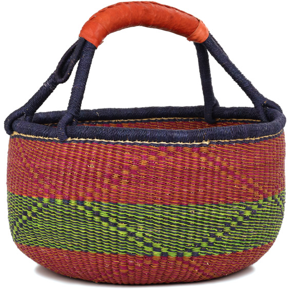 African Market Basket - Ghana Bolga - Large - 16 Inches Across - #91386