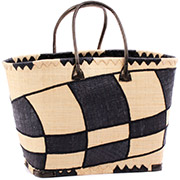 African Market Basket - Madagascar - Malagasy Tote - Approximately 19.5 Inches Across - #75888
