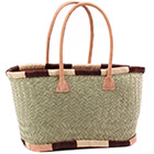 African Market Basket - Madagascar - Small Haravola Sweet Grass Tote 15.5 Inches Across - #75908