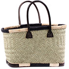 African Market Basket - Madagascar - Small Haravola Sweet Grass Tote 14.5 Inches Across - #75912