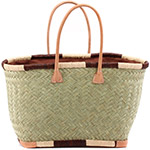African Market Basket - Madagascar - Medium Haravola Sweet Grass Tote 18.5 Inches Across - #75920