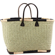 African Market Basket - Madagascar - Large Haravola Sweet Grass Tote 20 Inches Across - #75924