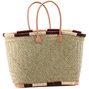 African Market Basket - Madagascar -Latge Haravola Sweet Grass Tote 20 Inches Across - #75928