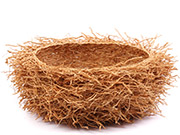 African Basket - Madagascar - Fragrant Vetiver Root Bowl - Approximately 14 Inches Across - #75978