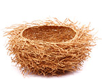 African Basket - Madagascar - Fragrant Vetiver Root Bowl - Approximately 10.5 Inches Across - #75985