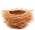 African Basket - Madagascar - Fragrant Vetiver Root Bowl - Approximately 7.5 Inches Across - #75996