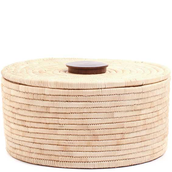 African Basket - Tall Malawi Tabletop Storage - 12-13 Inches Across - #68546