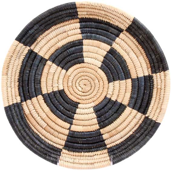 African Basket - Malawi Tray - 12 Inches Across - #71187