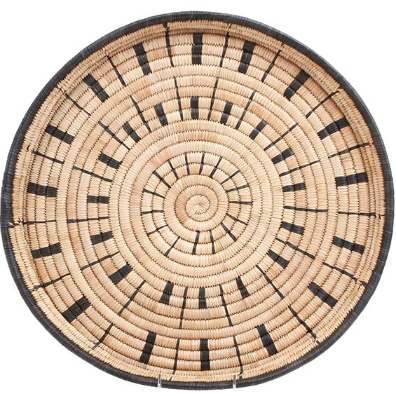 African Basket - Malawi Tray - 19.5 Inches Across - #73660