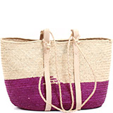 African Market Basket - Tuareg Shopping Tote - Approximately 17.5 Inches Across - #73664