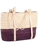 African Market Basket - Tuareg Shopping Tote - Approximately 16 Inches Across - #74019