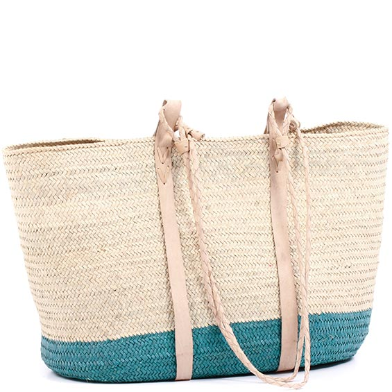 African Market Basket - Tuareg Shopping Tote - Approximately 20 Inches Across - #74991