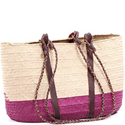 African Market Basket - Tuareg Shopping Tote - Approximately 19 Inches Across - #74992