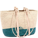 African Market Basket - Tuareg Shopping Tote - Approximately 18 Inches Across - #74995