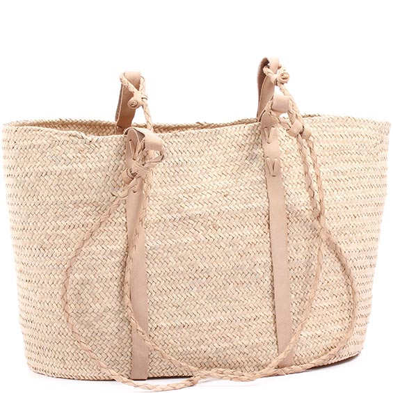 African Market Basket - Tuareg Shopping Tote - Approximately 19 Inches Across - #74999