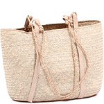 African Market Basket - Tuareg Shopping Tote - Approximately 16.5 Inches Across - #75000