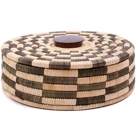 African Basket - Malawi Tabletop Storage - 11.75 Inches Across - #75976