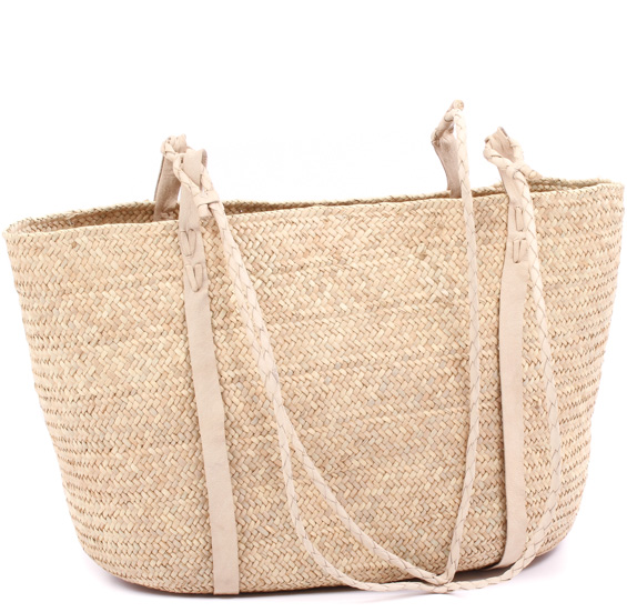 African Market Basket - Tuareg Shopping Tote - Approximately 20 Inches Across - #78965