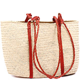 African Market Basket - Tuareg Shopping Tote - Approximately 17 Inches Across - #78968