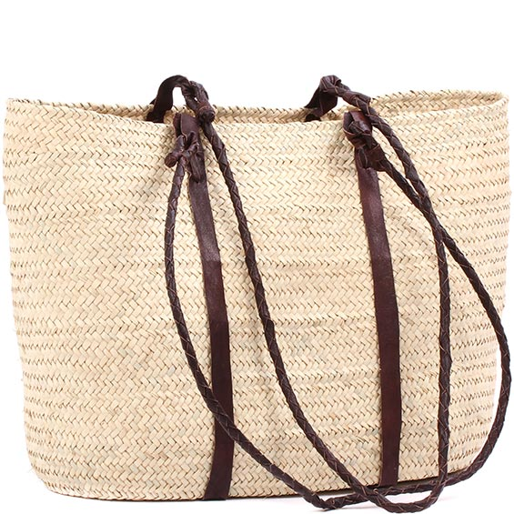 African Market Basket - Tuareg Shopping Tote - Approximately 17 Inches Across - #78969