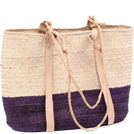 African Market Basket - Tuareg Shopping Tote - Approximately 17 Inches Across - #78970