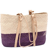 African Market Basket - Tuareg Shopping Tote - Approximately 17 Inches Across - #78971
