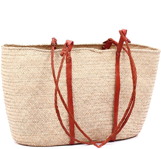 African Market Basket - Tuareg Shopping Tote - Approximately 20 Inches Across - #78974