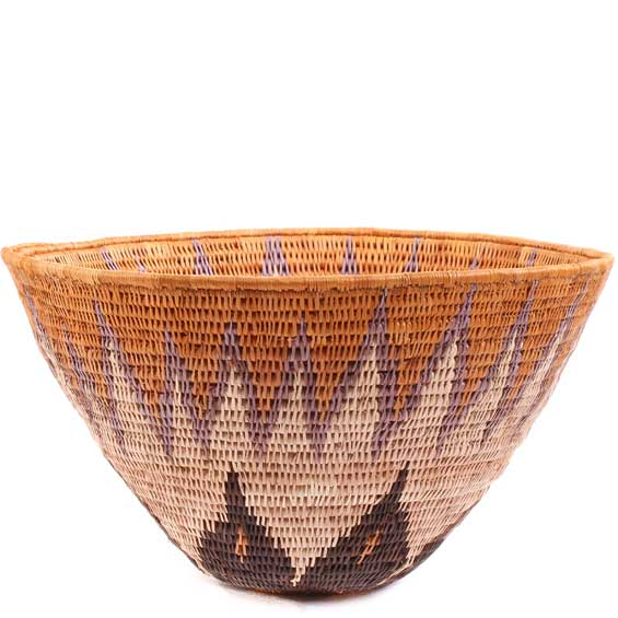 African Basket - Makalani Bowl - 10 Inches Across - #61877