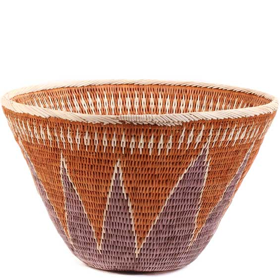 African Basket - Makalani Bowl -  9.5 Inches Across - #61879