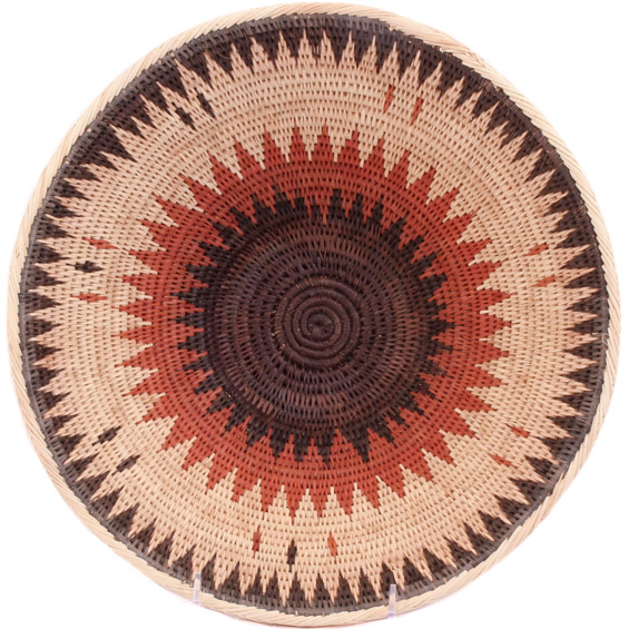 African Basket - Makalani Bowl - 11.5 Inches Across - #61887