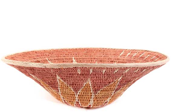 African Basket - Makalani Bowl - 11.5 Inches Across - #61888
