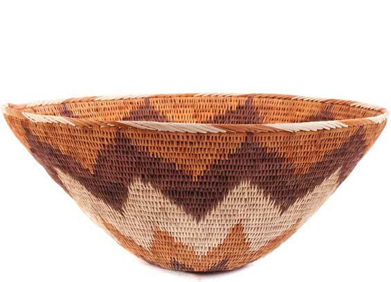 African Basket - Makalani Bowl - 10.75 Inches Across - #61895
