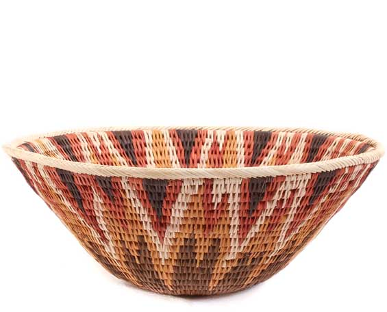 African Basket - Makalani Bowl -  8.75 Inches Across - #61906