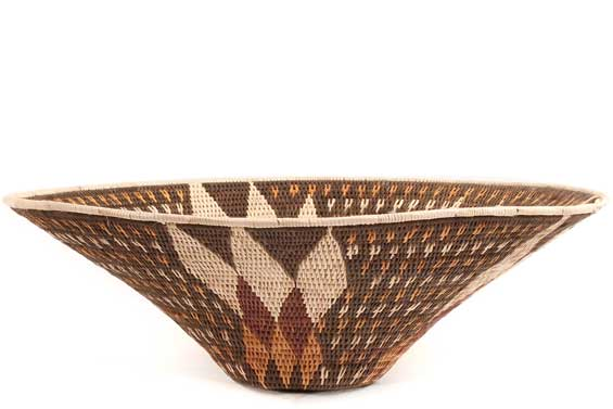 African Basket - Makalani Bowl - 14.5 Inches Across - #71751
