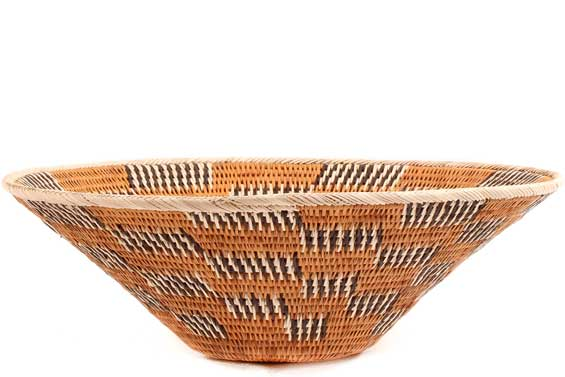 African Basket - Makalani Bowl - 12 Inches Across - #71782