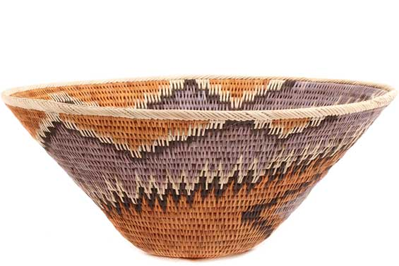African Basket - Makalani Bowl - 11.5 Inches Across - #71785