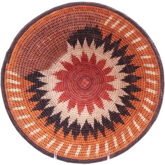 African Basket - Makalani Bowl - 11.25 Inches Across - #71786