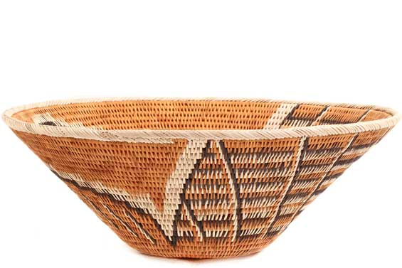 African Basket - Makalani Bowl - 11.5 Inches Across - #71787