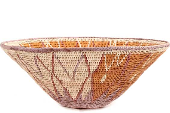 African Basket - Makalani Bowl - 11.5 Inches Across - #71788