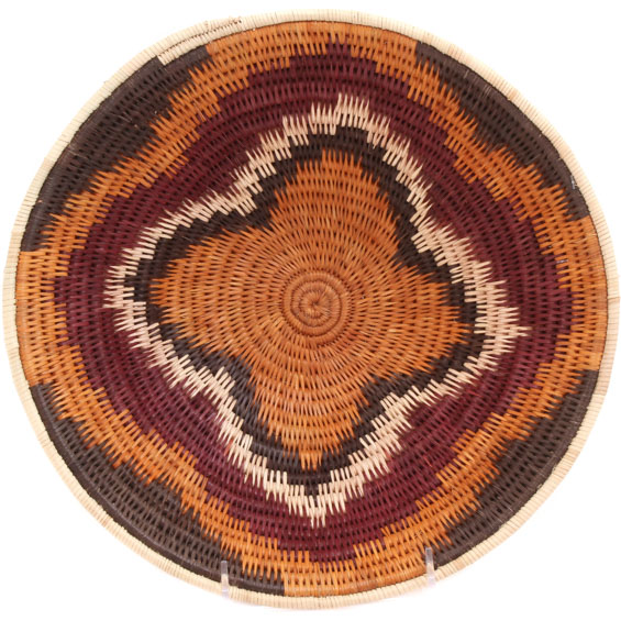 African Basket - Makalani Bowl - 11 Inches Across - #71791