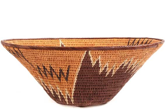 African Basket - Makalani Bowl - 11.5 Inches Across - #71792