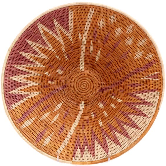African Basket - Makalani Bowl - 12 Inches Across - #71793