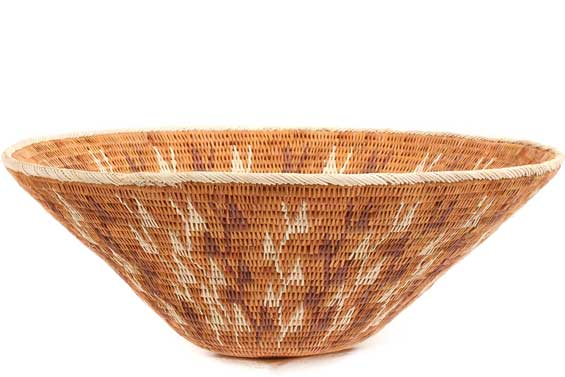 African Basket - Makalani Bowl - 10.5 Inches Across - #71808