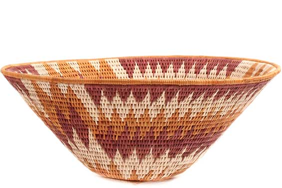 African Basket - Makalani Bowl - 11.5 Inches Across - #71811