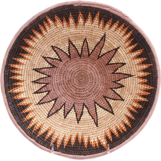 African Basket - Makalani Bowl - 10.75 Inches Across - #71819