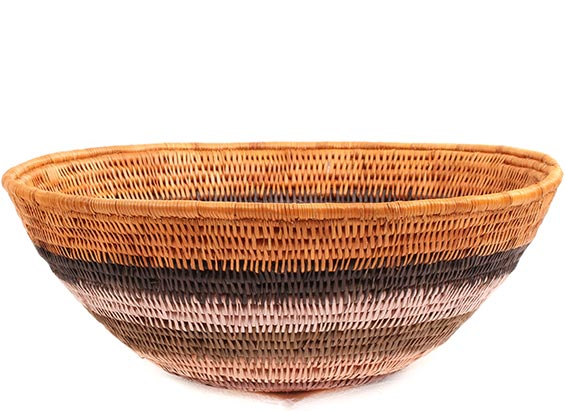 African Basket - Makalani Bowl -  9.5 Inches Across - #73123