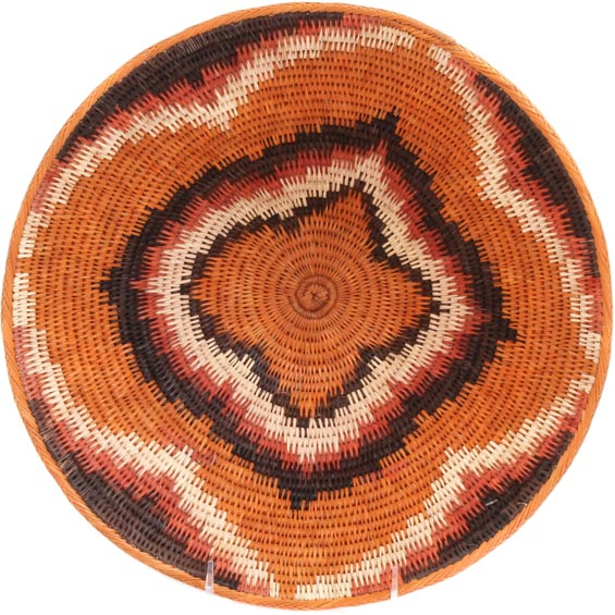 African Basket - Makalani Bowl - 12 Inches Across - #73138