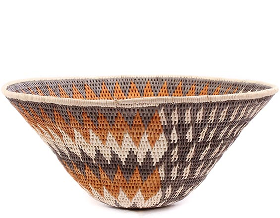 African Basket - Makalani Bowl - 10.75 Inches Across - #76745