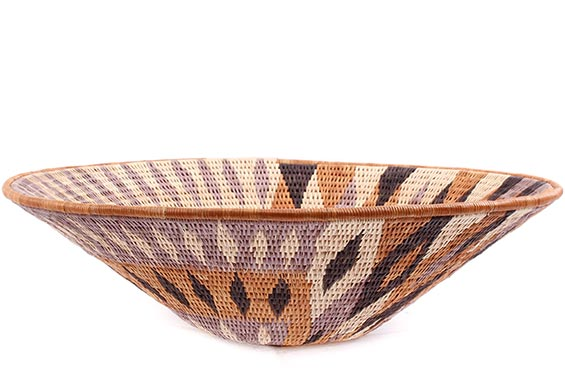 African Basket - Makalani Bowl - 13.25 Inches Across - #76746