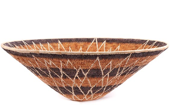 African Basket - Makalani Bowl - 15 Inches Across - #76750